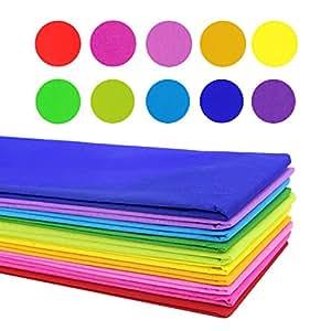 Coceca 20 pezzi di carta tessuto colorata 50 8 x 152 4 cm carta velina per matrimoni - Carta crespa decorazioni ...