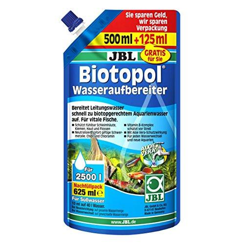 JBL Biotopol 23005 Wasseraufbereiter für Süßwasser Aquarien, Nachfüllpack 625 ml
