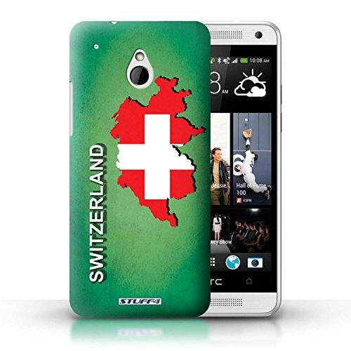 Kobalt® Imprimé Etui / Coque pour HTC One/1 Mini / grande-Bretagne conception / Série Drapeau Pays Suisse/Swiss