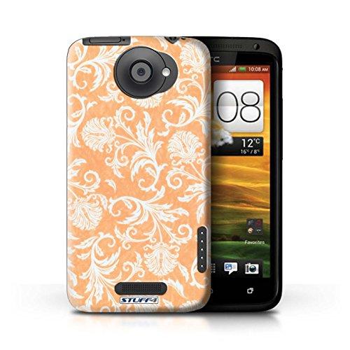 iCHOOSE Print Motif Coque de protection Case / Plastique manchon de telephone Coque pour iPhone 6+/Plus 5.5 / Collection Fleurs / Fond Rouge Fond Orange