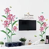 MCZQT Pegatinas de Pared Calcomanías Dormitorio Junto a Las Decoraciones de la Cama Enlucido Sala de Estar Sofá TV Fondo Floral Pared Pegatinas