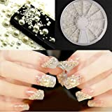 Holzsammlung Nail Art Strass Dimensioni Unghie Perline Glitter 3D Decorazione Unghie Manicure #14