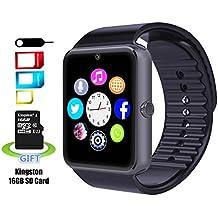 Reloj Inteligente SMARTER® YG8 Bluetooth Reloj Inteligente de Muñeca con Pantalla Táctil / Manos Libres / Cámara / anti-perdida / Recordatorio de llamada para Android (Negro)