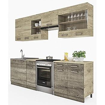 neu k che martha tr ffel sonoma 260 cm k chenzeile k chenblock einbauk che kueche. Black Bedroom Furniture Sets. Home Design Ideas