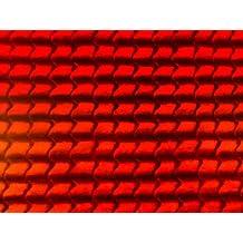 Lámina de papel de pared en miniatura teja flamenca en rojo para tejado exterior para casa