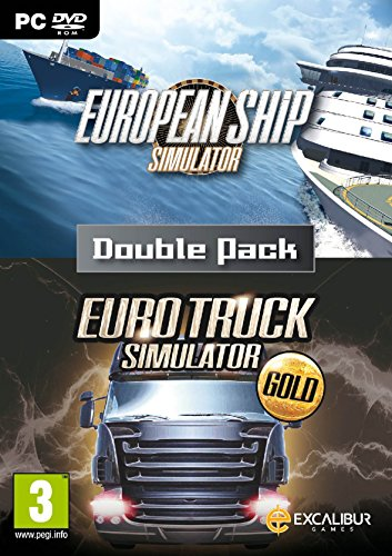 Euro Simulator Double Pack (European Ship Simulator & Euro Truck Gold)  PC (8 Lichter Treibende)