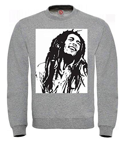 Preisvergleich Produktbild Sweatshirt Bob marley 2 Gray