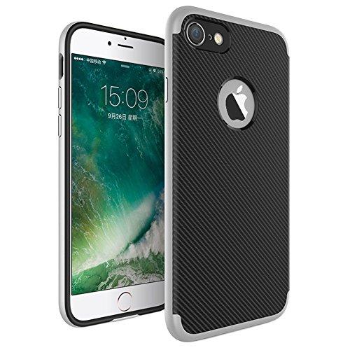 Ultraslim Case Hülle für Apple iPhone 7 Schutzhülle Cover Handyhülle Hardcase Silber