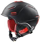UVEX Skihelm p1us pro, Black/Red Mat, 59-62 cm, S5661562307
