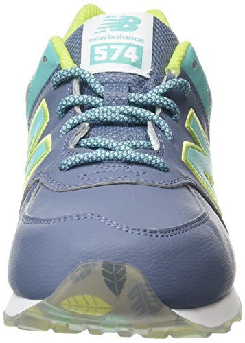 New Balance 574, Scarpe da Ginnastica Alte Unisex – Bambini Multicolore (Yellow/Aqua 737)