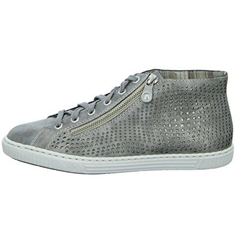 Chaussures À Lacets Rieker Woman Grey, (gris / Antique) L0933-40 Gris / Antique