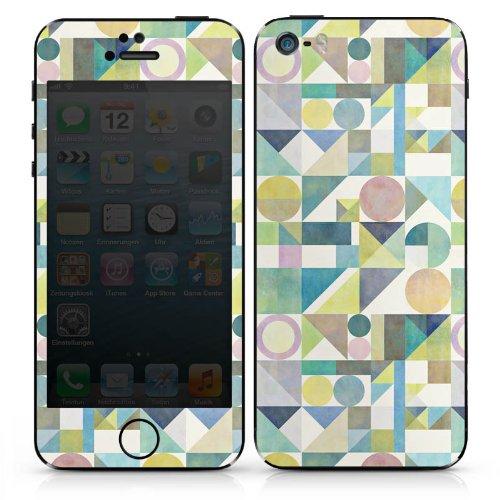 Apple iPhone SE Case Skin Sticker aus Vinyl-Folie Aufkleber Muster Grafisch Abstrakt DesignSkins® glänzend