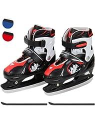 Schlittschuh, verstellbare Eishockeyschlittschuhe Kufenschoner inkl. -Größenwahl und Farbwahl