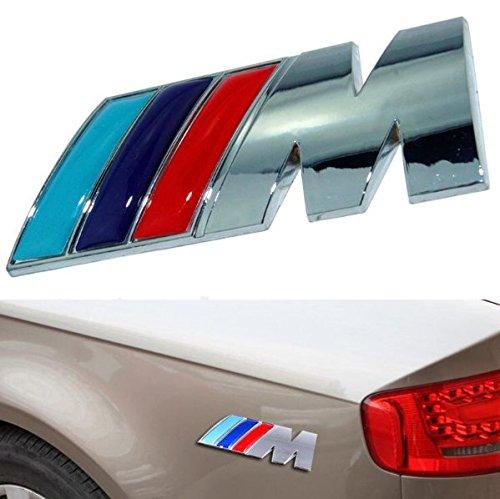 Fireman's High Quality Stylish 3D Metal Grill Car Sticker Rear Trunk Emblem for E46 E30 E34 E36 E39 E53 E60 E90 F10 F30 M3 M5 M6 (Black)