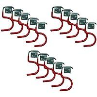 15 Stück Gerätehalter Haken Werkzeughalter Gartengerätehalter Besenhalter Stielhalter Wandhaken zum Verstauen Ihrer Geräte mit Stiel: Besen, Schaufeln, Spaten, Harken, von all-around24