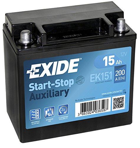 Exide Ek151 Agm Batterie de voiture 15 Ah