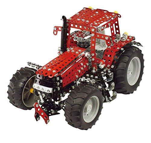 Tronico 10072 - Metallbaukasten Traktor Case IH Magnum 340, Profi Serie, Maßstab 1:16, 1007-teilig, rot