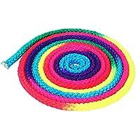 Keenso Cuerda de Gimnasia del Arco Iris, Cuerda de Gimnasia Rítmica, 2.8 m Cuerda de Entrenamiento de Artes