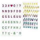 kwmobile Set lettere Lightbox A5-126 caratteri Set integrativo per lavagna luminosa LED A5 - simboli e numeri colorati - 6 colori - Set aggiuntivo