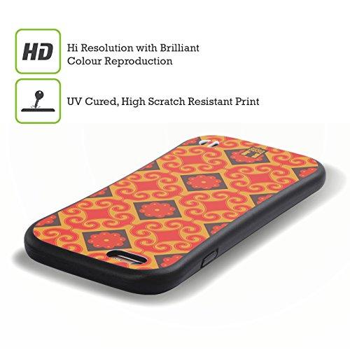 Head Case Designs Rose Fluo Motifs Marocains Étui Coque Hybride pour Apple iPhone 5 / 5s / SE Diamant Jaune