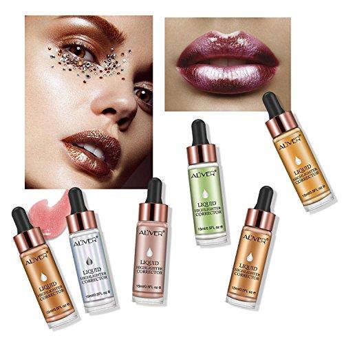 Lesb liquido evidenziatore Contour glitter Shimmer Brighten evidenziatori per viso e occhi trucco #02