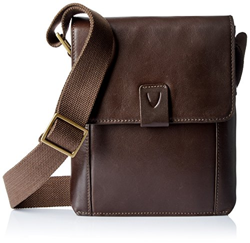 Hidesign Leather Messenger & Sling Bag (AIDEN 03-BROWN)  available at amazon for Rs.4895