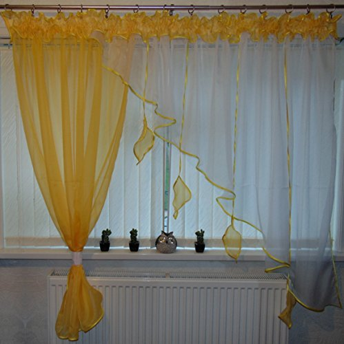 Kitchen Curtains Amazon Co Uk: Ready Made Voile Curtains: Amazon.co.uk