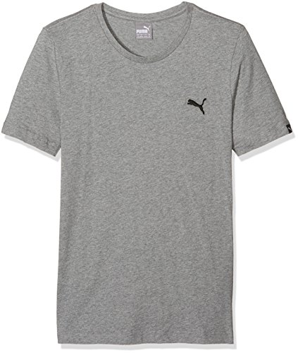 Puma Essential-Maglietta, colore: grigio mélange, taglia: XS