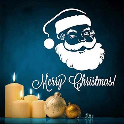 Wandaufkleber Happy Winter Frohe Weihnachten Santa Claus Diy Decoraton Weihnachtsglas Fenster Dekor -