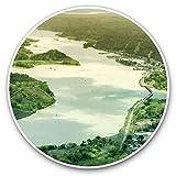 Adesivi in vinile (set da 2) 7,5 cm - Panama Canal Atlantic Pacific Ocean Fun decalcomanie per laptop, tablet, bagagli, scrapbooking, frigoriferi, idea regalo # 1403121987 23 x 17 x 1 cm