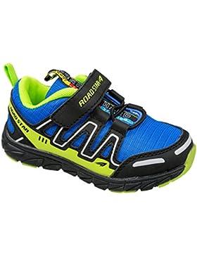 GIBRA® Kinder Sportschuhe, mit Klettverschluss, blau/neongrün, Gr. 25-35