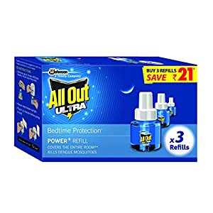 All Out Ultra Mosquito Repellant Refill, 3 units
