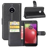 HualuBro Moto E4 Case, Premium PU Leather Wallet Flip Phone
