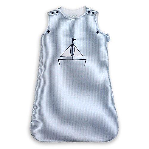 NioviLu Design Sacco nanna bebè - Blue Sloop (0-6 mesi / 70 cm - 1 Tog)