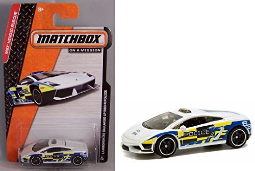 Matchbox Cars - MATCHBOX ON A MISSION - MBX Heroic Rescue Lamborghini Gallardo LP 560-4 Police Car by LESNEY
