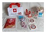 1.Hilfe-Tasche gefüllt 40 40ster Geburtstag Erste Hilfe mit Inhalt Partygag