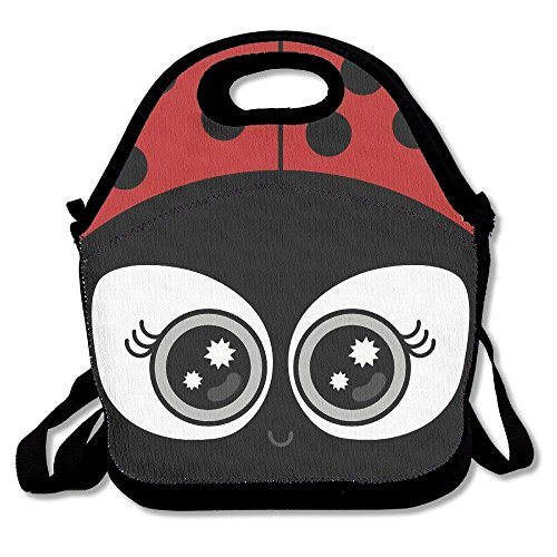 Fgrygf cute ladybug super lunch bags tote for travel school picnic grocery bags outdoor picnic bag high quality