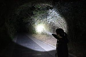 Wolfway Linterna de buceo impermeable Linterna XM-L2 LED Lámpara de luz super L2 3800 lúmenes de buceo 5 modo de luz submarina
