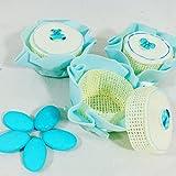 Celeste Scatola portaconfetti scatolina bomboniera segnaposto per Battesimo Compleanno Nascita - 24 scatoline + 1 Pacco di Confetti ciocopassion al Latte APR