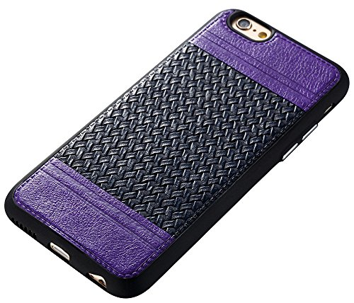 Iphone 6S Coque,Iphone 6S Case,Iphone 6 Coque,Iphone 6 Case, Nnopbeclik® Lignes de tissage Style Backcover Doux Soft Silicone Antichoc Housse Coque Iphone 6S,Coque Iphone 6 (4.7 Pouces) Protection Ant pourpre+marine
