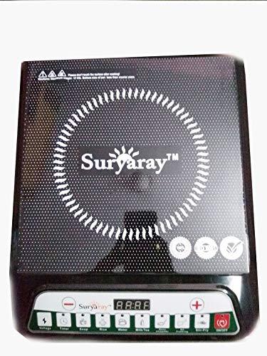 AKSHAT Portable Non-Stick Induction Cooktop with Push Button Control (Black)