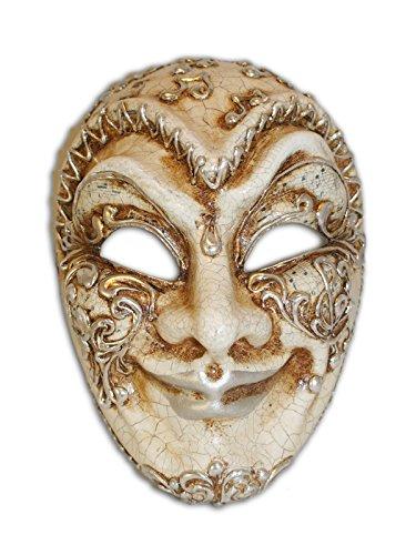 ske Volto Jester Musica für Männer (silber) (Jester Halloween-maske)