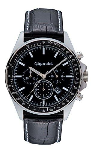 Gigandet Volante Reloj Hombres Cronógrafo Analógico Cuarzo Negro G3-001