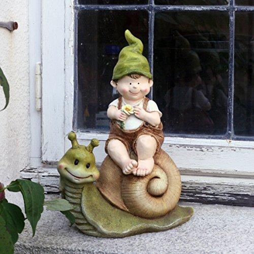 Lilly and Len Elves Decorazione da giardino gnomo fata del giardino troll