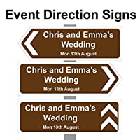 Personalised Wedding Day/Reception/Party Printed Direction arrow signs Correx