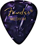 Fender 351 Classic Celluloid Picks 12-Pack (Couleurs assorties) Purple Moto (Medium) - Lot de 12 médiators