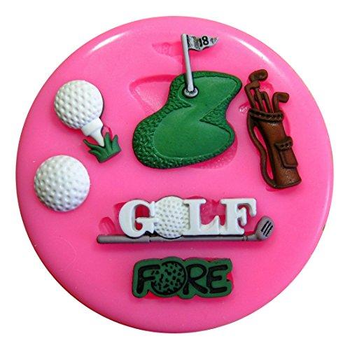 Golf Mottoparty Silikon Form für Kuchen Dekorieren, Kuchen, kleiner Kuchen Toppers, Zuckerglasur Sugarcraft Werkzeug durch Fairie Blessings