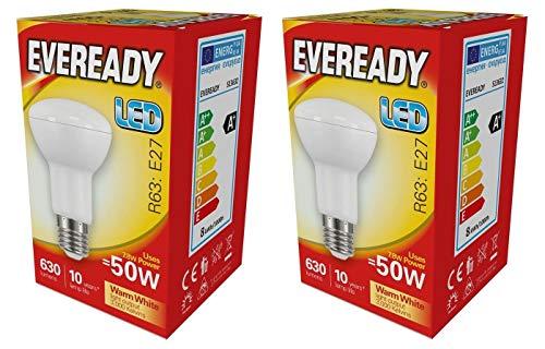 Eveready 2x 8w LED E27 R63-830/3000k - Warmweiß - 806lm (s13632) -