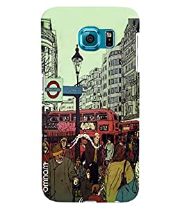 Omnam London City Cartoon Printed Designer Back Cover Case For Samsung Galaxy S7