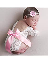 8d481c7c361586 FOONEE Newborn Baby Photography Prop Lace, Baby Girl Romper Outfit Clothes,  Newborn Baby Girls